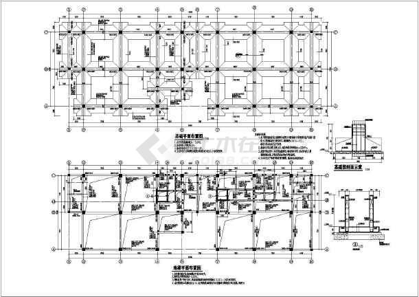 淮安某办公室3层钢筋混凝土框架结构施工图