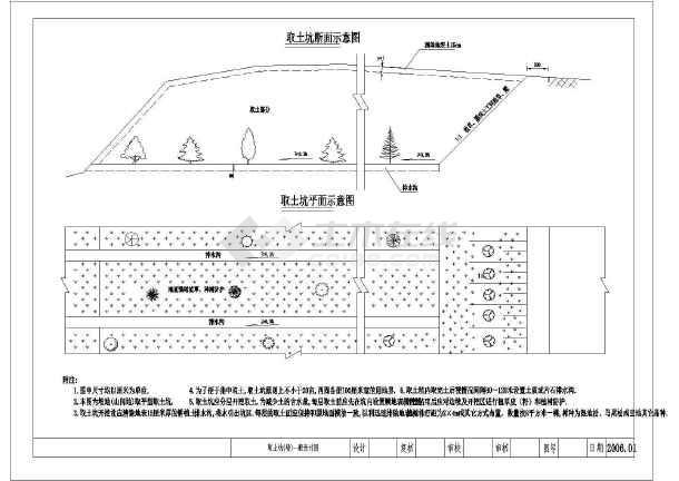 某弃土场水土保持措施水利设计图纸图片1