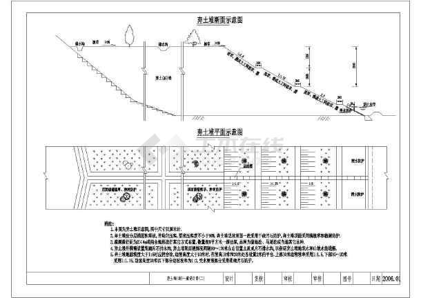 某弃土场水土保持图纸图纸v图纸图纸_cad水利b50分解针措施推图片