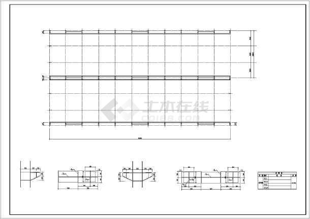 单层两跨门式刚架厂房结构图