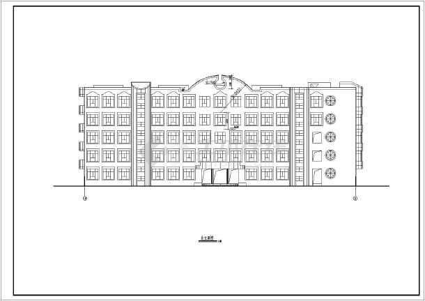 某五层框架教学楼平面图
