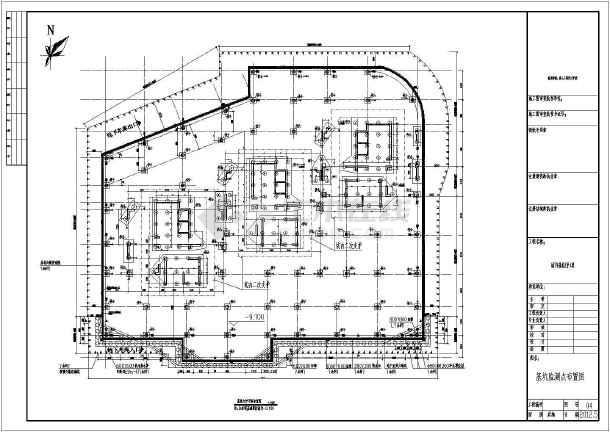 福建某商住楼地下室基坑支护设计施工图