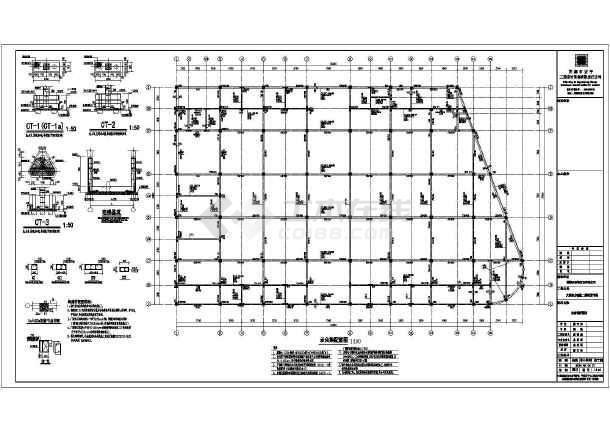 安徽省芜湖县三层农贸市场结构设计施工图