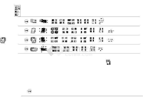 【山东】精装一居室装修设计施工图(含效果图)  简介:图纸包括:目录