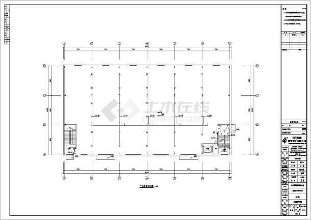 某地双层钢结构图纸含水结构设计施工图(建筑b.o.f厂房图片