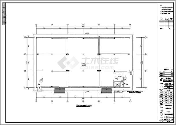 某地图纸钢结构双层含水结构设计施工图(建筑厂房的有吗绣买地毯图片