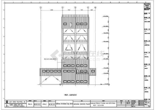 多层钢结构框架工业建筑结构设计图