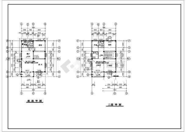 某地两层小巧实用农村房屋建筑设计图图片