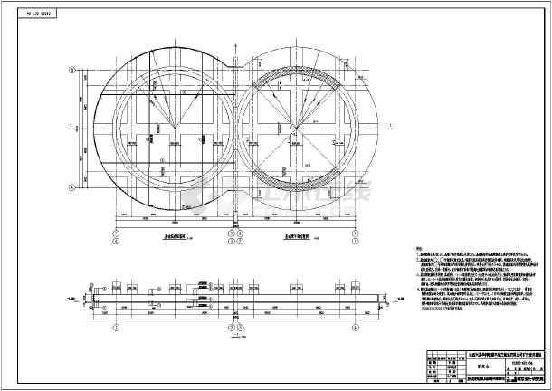 本图纸为:某矿厂筒仓混合结构设计建筑图