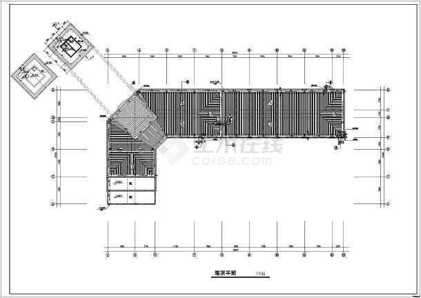 某地八层框架结构自来水大楼建筑设计施工图