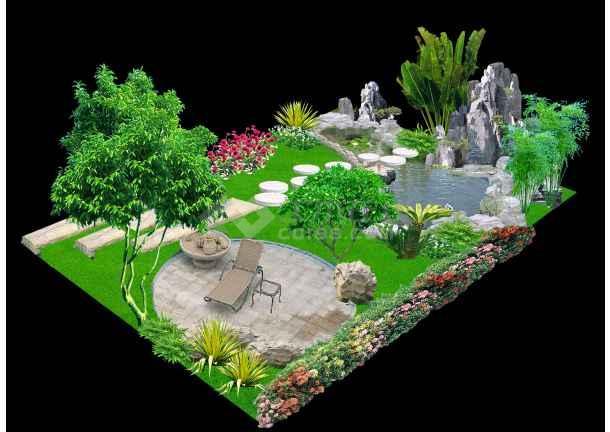 别墅小花园效果图图片1