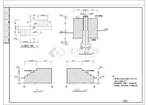 堤涵施工方案_1.2m高储罐区防火堤结构施工图
