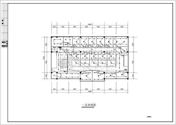 图纸 装修设计 酒店装修 其他酒店餐饮装修图 某地两层框架结构茶楼室