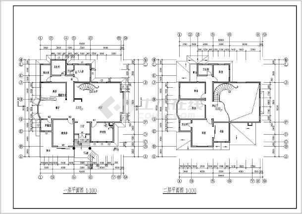 某地农村二层别墅建筑方案设计图纸