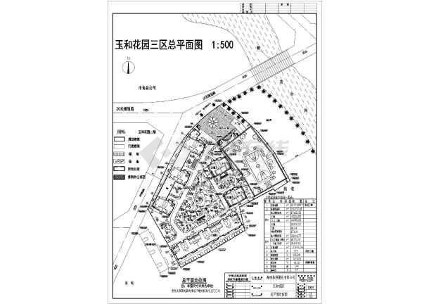 图纸为某地住宅小区规划设计总平面布置-会所平面布置图图片