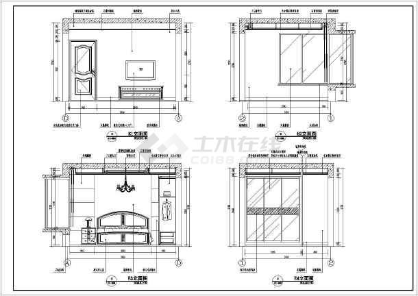 【北京】高层剪力墙结构住宅(两居室)室内装修设计施工图