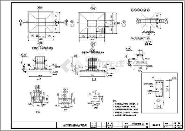 某地区钢结构标准厂房建筑结构施工图纸