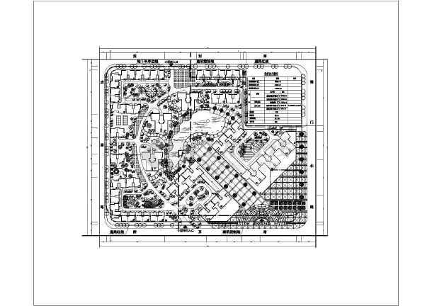 某住宅小区建筑规划设计总平面图(5套方案)