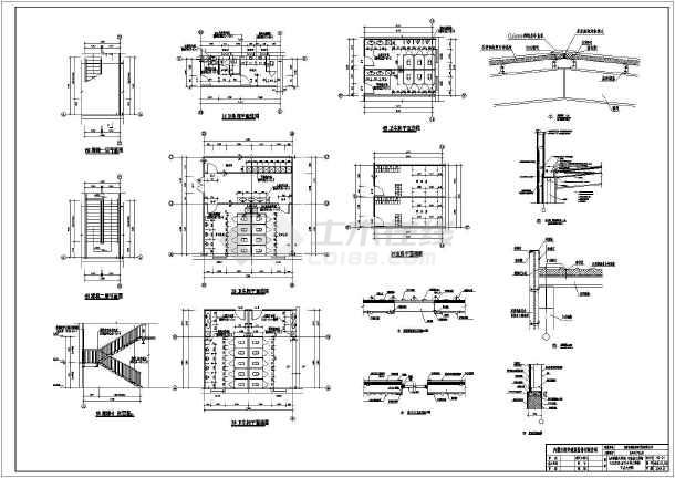 某地2层钢结构东风日产4s店建筑设计施工图