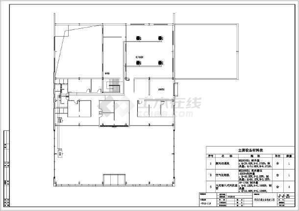 某桂林市二层一汽大众4s店中央空调设计施工图