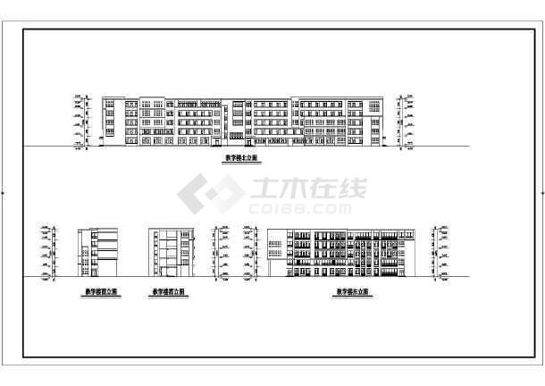 某地5层结构方案36班框架教学楼建筑设计小学小学组a图片