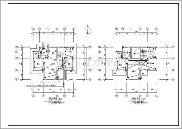 某地二层框架结构别墅电气设计施工图纸