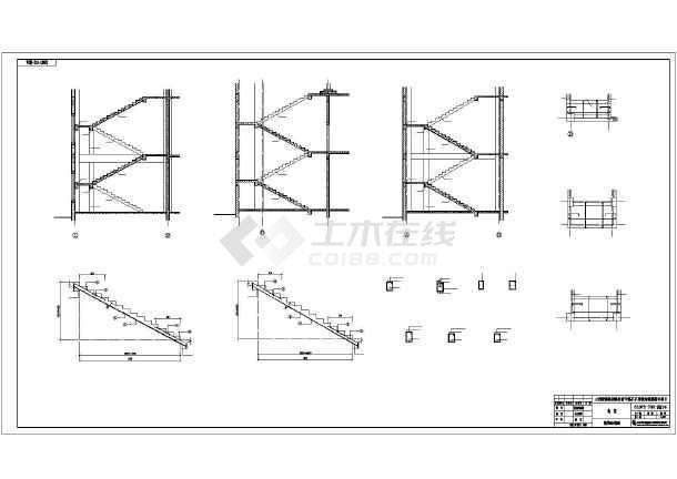 某地区三层框架结构食堂建筑结构图
