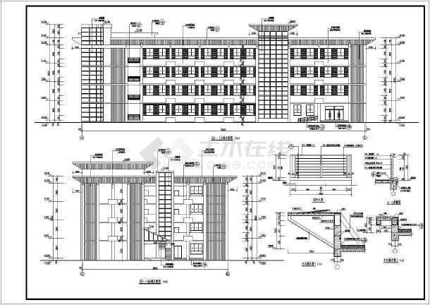 某地四层全框架结构信访办建筑设计施工图纸