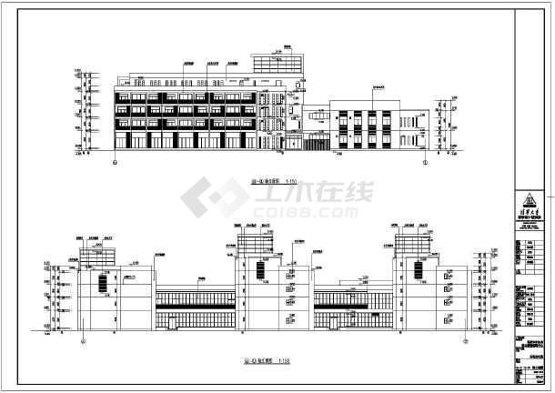 北京某地四层框架结构公寓楼建筑设计施工图