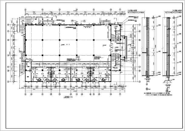 结构图纸餐厅礼堂建筑设计施工图_cad警车下拼装框架图纸简单乐高图片