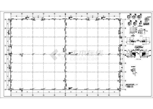 无吊车单层轻钢门式刚架厂房结构图