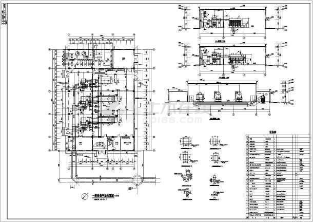 6tx2台热水锅炉和4tx1台蒸汽锅炉锅炉房设计图