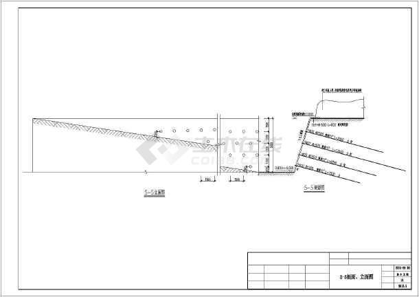 河南某地下室基坑支护结构设计施工图