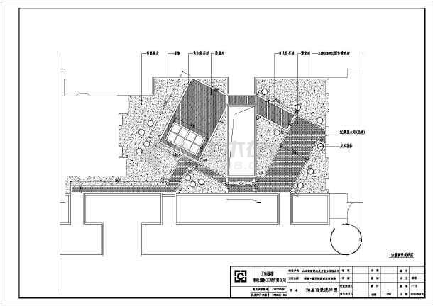 图纸 园林设计图 园林绿化及施工 屋顶花园设计图 高密淘宝街楼顶花园
