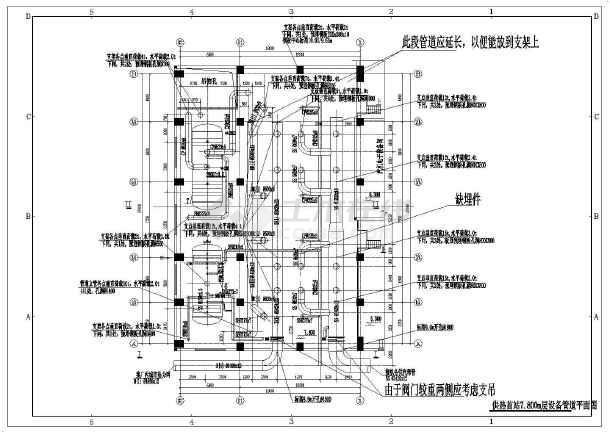 地下一层板式换热器换热站设计施工图图片