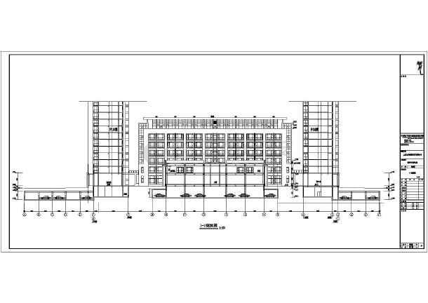 某地七层框架结构五星酒店宾馆建筑设计施工图纸