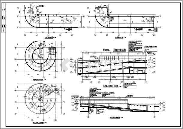 河北保定某1#地下车库建筑、结构、人防v车库太阳能路灯杆cad图图片