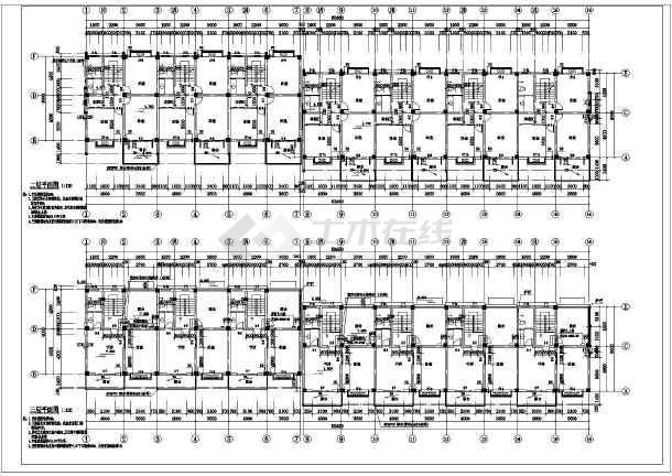 某地七联排别墅建筑施工图