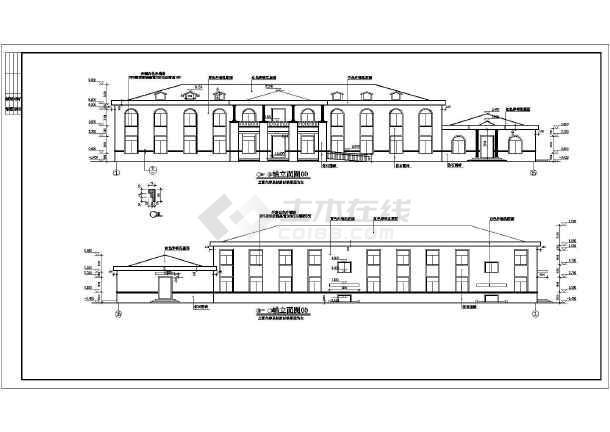 某景区二层砖混结构小宾馆建筑施工图