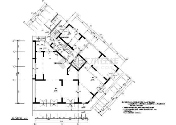 某地单元小区住宅楼建筑平立面图纸
