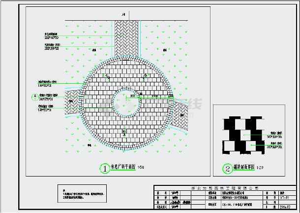 某园林景观节点亭子设计cad施工图图片1