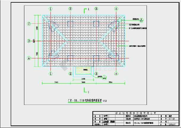 某园林景观节点亭子设计cad施工图