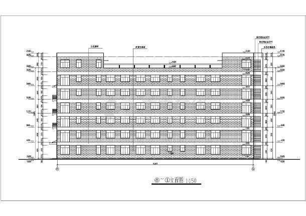 厂房多层钢筋混凝土框架结构车间建筑施工图