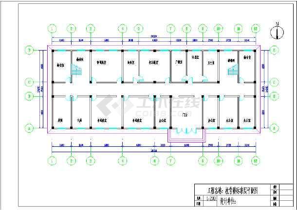 某教学楼标准层平面图