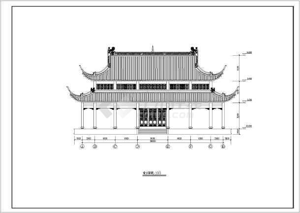 某地大雄宝殿古建筑全套建筑结构施工图