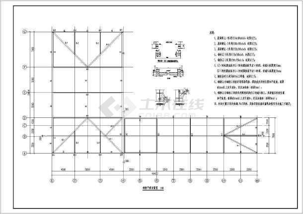 某l型轻钢鱼塘厂房结构设计施工图