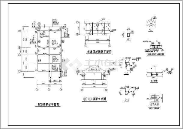 某三层框架别墅建筑结构设计施工图