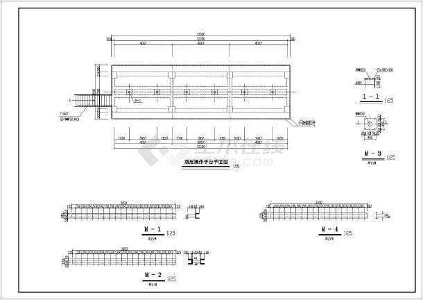 水利水电工程某小型水闸结构布置图