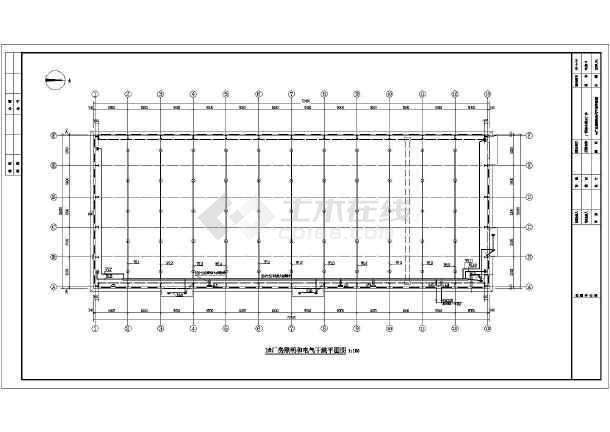某一层的钢结构图纸电气v图纸施工图_cad厂房图纸ZJC图片