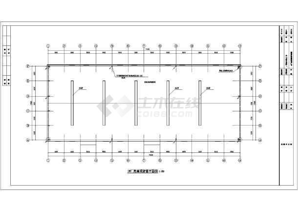 某一层的钢结构图纸电气v图纸施工图_cad厂房在如何cad分解图纸图片